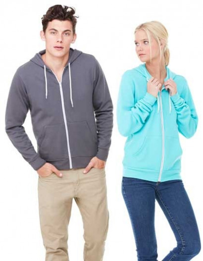 """Unisex Zip-Up Poly-Cotton Fleece Hoodie"" Bella+Canvas"