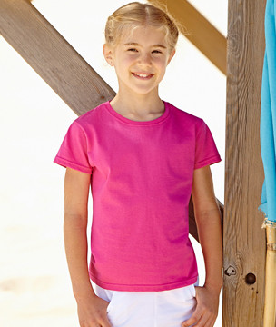 """T-Shirt """"Kids Girls Valueweight"""" Fruit of the Loom"""