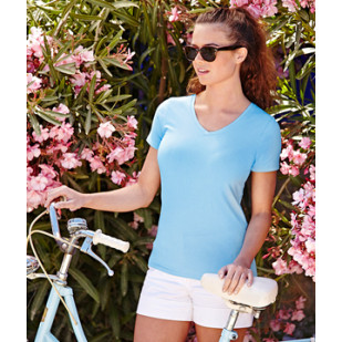 """T-Shirt """"Lady Fit V-Neck"""" Fruit of the Loom"""